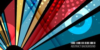 Geometric colorful bar abstract background graphics template. Abstract colorful background graphics design layout template with blended multiple bar shapes Stock Illustration