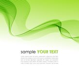 Abstract colorful background green smoke wave Royalty Free Stock Image
