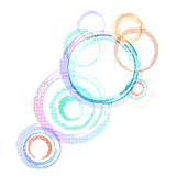 Abstract colorful background with grunge circles. Stock Photography