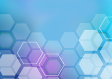 Abstract colorful background of hexagonal shapes Stock Photography