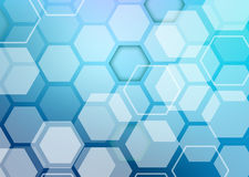 Abstract colorful background of hexagonal shapes Royalty Free Stock Photos
