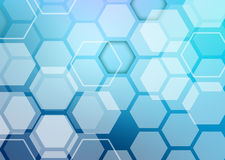 Abstract colorful background of hexagonal shapes Stock Image