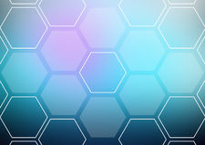 Abstract colorful background of hexagonal shapes Royalty Free Stock Photo
