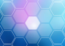 Abstract colorful background of hexagonal shapes Royalty Free Stock Images