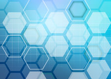 Abstract colorful background of hexagonal shapes Royalty Free Stock Photography