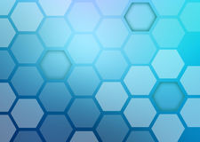 Abstract colorful background of hexagonal shapes Royalty Free Stock Image
