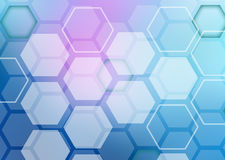 Abstract colorful background of hexagonal shapes Stock Images