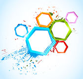 Abstract colorful background with hexagons Royalty Free Stock Image
