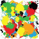 Abstract colorful background with ink spots Stock Photography