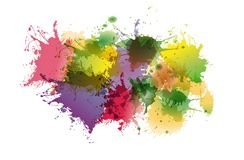 Abstract colorful  background of ink stains. Abstract colorful ink stains on white background, vector Royalty Free Stock Photography