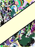 Abstract colorful background with leaves Stock Image