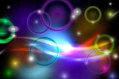 Abstract colorful background. With lights. Vector Illustration Royalty Free Stock Images