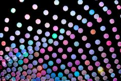 Abstract colorful background made of blurred lights vector illustration