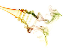 Abstract colorful background made with real smoke Stock Photo