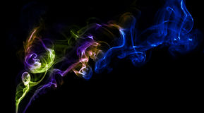 Abstract colorful background made with real smoke Royalty Free Stock Image