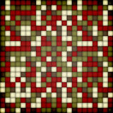 Abstract colorful background made of squares. Christmas colors. Royalty Free Stock Image