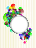 Abstract colorful background with metal frame Stock Images