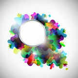 Abstract colorful background with metal frame Stock Photography
