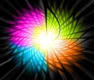 Abstract colorful background. Abstract mult-colors and black background Stock Images