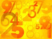 Abstract colorful background with numbers Stock Images