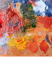 Abstract colorful background oil paint. Stock Photos