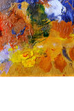 Abstract colorful background oil paint. Stock Image