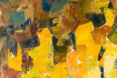 Abstract colorful background oil painting on canvas. Royalty Free Stock Photography