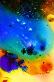 Abstract colorful Background Oil in Water surface Foam of Soap with Bubbles macro shot close-up royalty free stock image