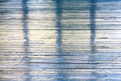 Abstract colorful background. Original abstract colorful background of blue stripes. Old colored wooden floor Stock Photography