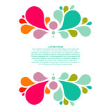Abstract colorful background with place for your text, drop element Royalty Free Stock Photography