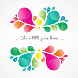 Abstract colorful background with place for your text. Tear drop element, vector Royalty Free Stock Image