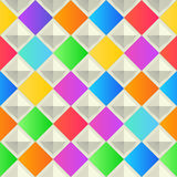 Abstract, colorful background with rhombus shapes. Vector, geometric, fashion wallpaper template. material design Royalty Free Stock Photo