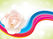 Abstract colorful background with rose. Vector illustration Royalty Free Stock Photo