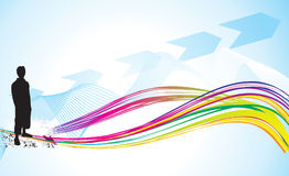 Abstract colorful background with shillouts Royalty Free Stock Photography