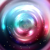 Abstract colorful background, Shining circle tunnel. Elegant mod Stock Image