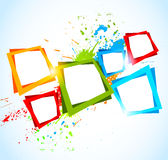 Abstract colorful background with squares Stock Photo