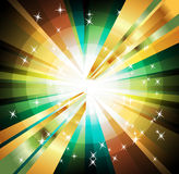 Abstract colorful background of star burst  vector illustration