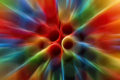 Abstract colorful background. From straws Stock Image