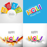 Abstract colorful background for stylish holi text Stock Image