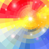 Abstract colorful background with sun Royalty Free Stock Photo