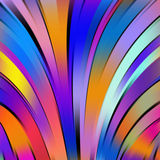 Abstract colorful background with swirl waves. Stock Image