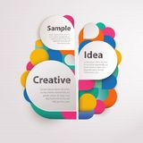 Abstract colorful background with text space Stock Photos