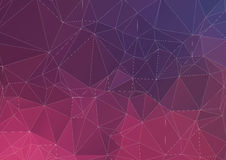 Abstract colorful background of triangles Royalty Free Stock Photo