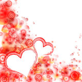 Abstract colorful background. Valentines day. Stock Image
