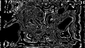 Abstract colorful background with visual wave oil blot on black, 3d render computer generating. Abstract colorful background with visual wave oil blot on black stock illustration