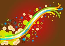 Abstract Colorful Background Wallpaper royalty free illustration