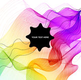 Abstract colorful background with wave Royalty Free Stock Photography