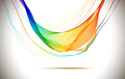 Abstract colorful background with wave Royalty Free Stock Images
