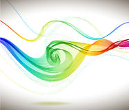 Abstract colorful background with wave Royalty Free Stock Photos