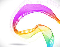 Abstract colorful background with wave Stock Photography